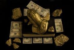 Mains d'argent Image libre de droits