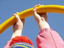 Mains d'enfant Photos stock