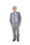 Mains d'homme d'affaires dans des poches Images stock