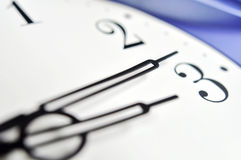 Mains d'horloge Photographie stock