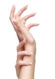 Mains d'isolement avec la manucure Photo libre de droits