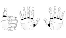 Mains d'une brosse de robot Photographie stock