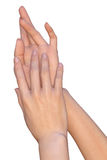 Mains d'une jeune femme Image libre de droits