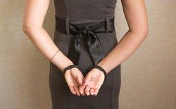 Mains dans des menottes Images libres de droits