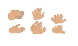 Mains dans différents angles illustration de vecteur
