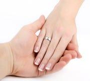 Mains dans l'amour Photographie stock libre de droits