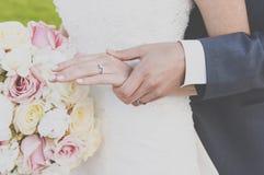 Mains dans l'amour Photo libre de droits
