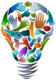 Mains dans l'ampoule illustration libre de droits