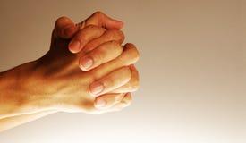 Mains dans l'espoir Photo libre de droits