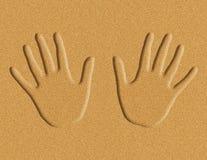 Mains dans l'illustration de sable illustration stock