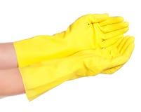 Mains dans les gants photo libre de droits
