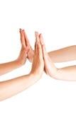 Mains de applaudissement photo stock