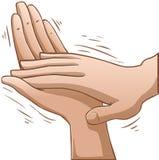 Mains de applaudissement Images libres de droits