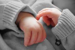 Mains de bébé Images libres de droits
