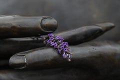 Mains de Bouddha Images libres de droits
