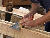 Mains de charpentiers Image libre de droits