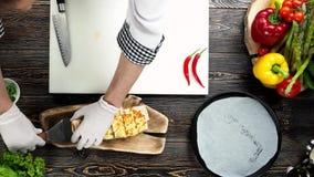 Mains de chef, burrito clips vidéos