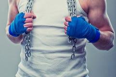 Mains de combattants Image libre de droits