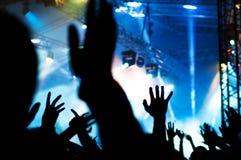 Mains de concert photo stock