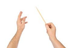 Mains de conducteur de musique Image libre de droits