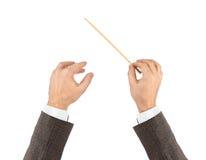 Mains de conducteur de musique Images stock