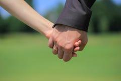 Mains de couples Photo libre de droits