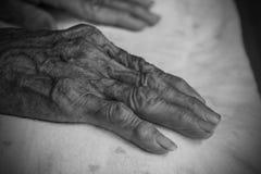 Mains de dame âgée Rebecca 36 Photographie stock