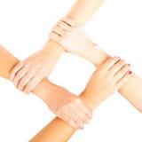 4 mains de ` de dames Image libre de droits