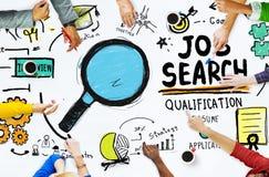 Mains de diversité recherchant Job Search Opportunity Concept photo stock