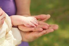 Mains de famille Photo stock