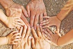 Mains de famille Image libre de droits
