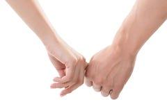 Mains de fixation d'homme et de femme Images stock
