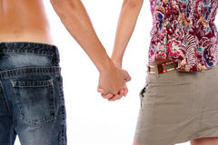 Mains de fixation de couples Photos libres de droits