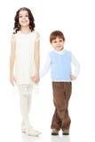 Mains de fixation de frère et de soeur Photographie stock libre de droits
