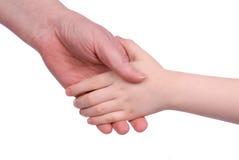 Mains de fixation de mère et de fils Photo libre de droits