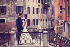 Mains de fixation de mariée et de marié Photo libre de droits