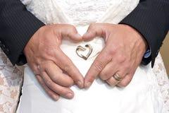 Mains de forme de coeur Photographie stock libre de droits