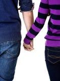 Mains de l'adolescence de fixation de couples Images stock