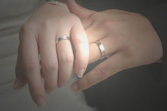 Mains de l'amour photo stock
