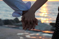 Mains de l'amour Image stock