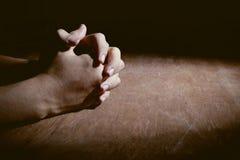 Mains de la prière Image libre de droits