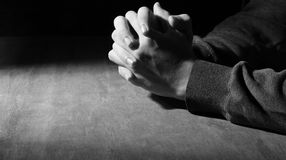 Mains de la prière Photo stock