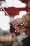 Mains de lavage de rituel Image libre de droits