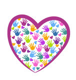 Mains de logo d'amour Photos stock