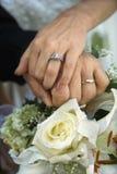 Mains de mariée et de marié Photographie stock libre de droits