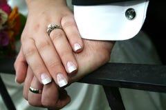 Mains de mariage Image libre de droits