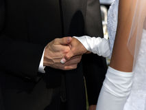 Mains de mariage Photo stock