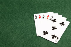 Mains de poker - quatre d'une sorte Photo stock