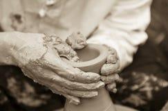 Mains de potiers Photo libre de droits