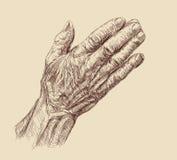 Mains de prière Image libre de droits